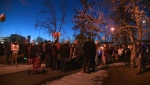 Candlelight vigil in Strathmore's Kinsmen Park on March 19, 2019 to honour the memory of Kristian Ayoungman