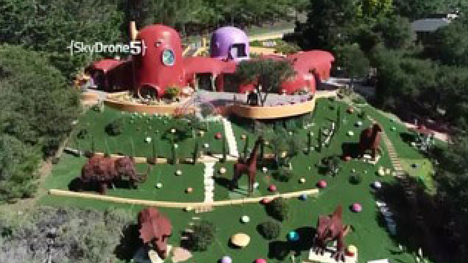 A San Francisco Bay Area town is suing the owner of the quirky Flintstone House, alleging she violated local codes when she put dinosaur sculptures in the backyard and made other landscaping changes that caused local officials to declare it a public nuisance. (KPIX via CNNNewsource)