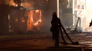 A fire in a Beloeil apartment building left around 20 people homeless on the morning of Wed., March 20, 2019.