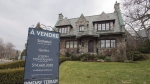 A house for sale at $3,395,000 in Westmount in Montreal on December 11, 2015. Sotheby's International Realty Canada says luxury home sales fell in three of Canada's major cities over the first couple months of the year, but rose in Montreal, which is set to break records in 2019.The real estate brand says Vancouver saw continued buyer's market conditions in the first two months of the year with 52 per cent fewer residential properties sold over $1 million than during the same time in 2018. THE CANADIAN PRESS/Ryan Remiorz