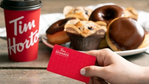 File photo of Tims Rewards card. (Tim Horton's)