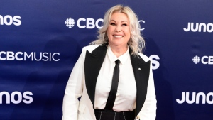 Jann Arden arrives on the red carpet at the Juno Awards in London, Ont., on March 17, 2019. (THE CANADIAN PRESS/Frank Gunn)