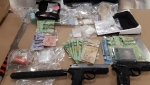 Drugs and various weapons were seized from two properties along 43 Street S.E.