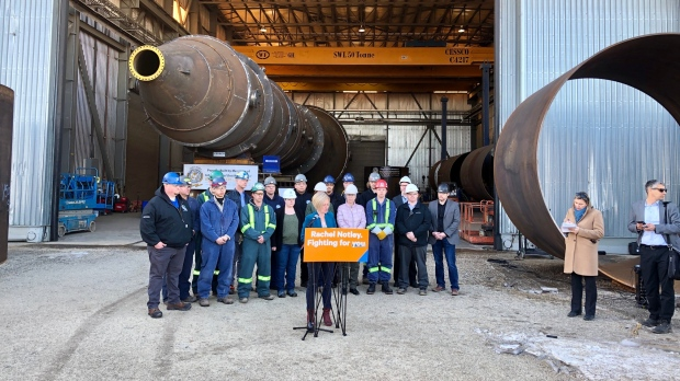 Rachel Notley makes a campaign announcement on March 20, 2019. (CAM WEIBE/CTV EDMONTON)