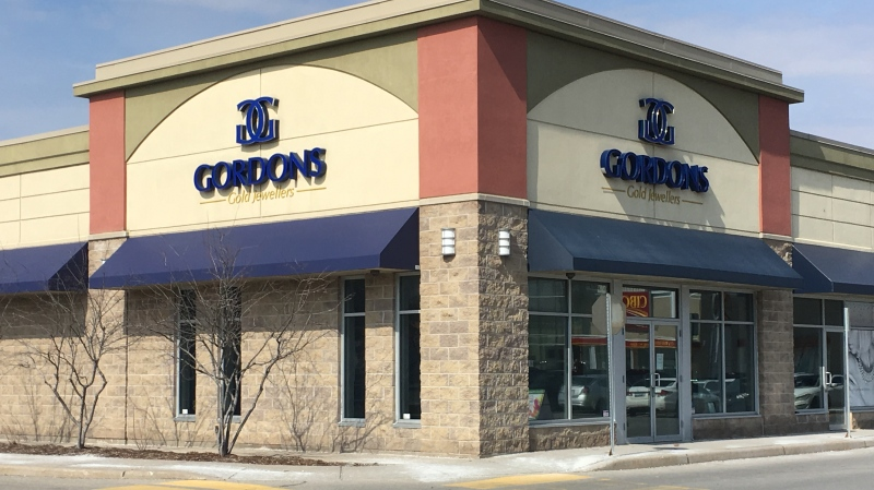 Gordons Gold Jewellers at 760 Hyde Park Road in London, Ont. is seen on Wednesday, March 20, 2019. (Jim Knight / CTV London)