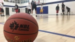 London Lightning players practice in London, Ont. on Wednesday, March 20, 2019. (Brent Lale / CTV London)