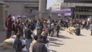 Western University students rally over post-secondary education funding changes in London, Ont. on Wednesday, March 20, 2019. (Gerry Dewan / CTV London)