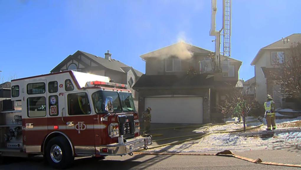 Fire, Kincora fire, house fire, Calgary Fire Depar