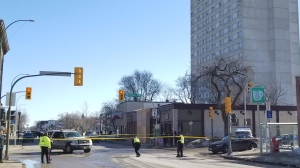 Southbound Osborne at Morley Avenue, and northbound Osborne at Bartlett Avenue are closed. (Source: Daniel Timmerman/CTV News)
