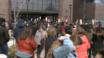 Ontario Students stage walkout