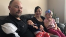 The Ardell family are pictured in their home March 20, 2019. (Nicole DiDonato/CTV Saskatoon)