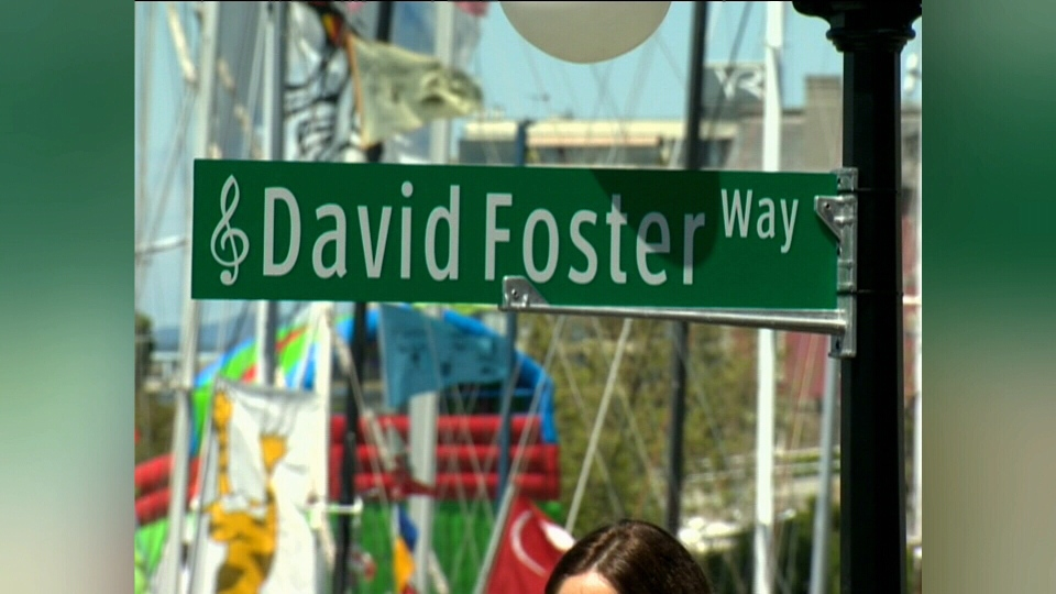 The first street sign marking the pathway in Victoria's Inner Harbour. (CTV Vancouver Island)