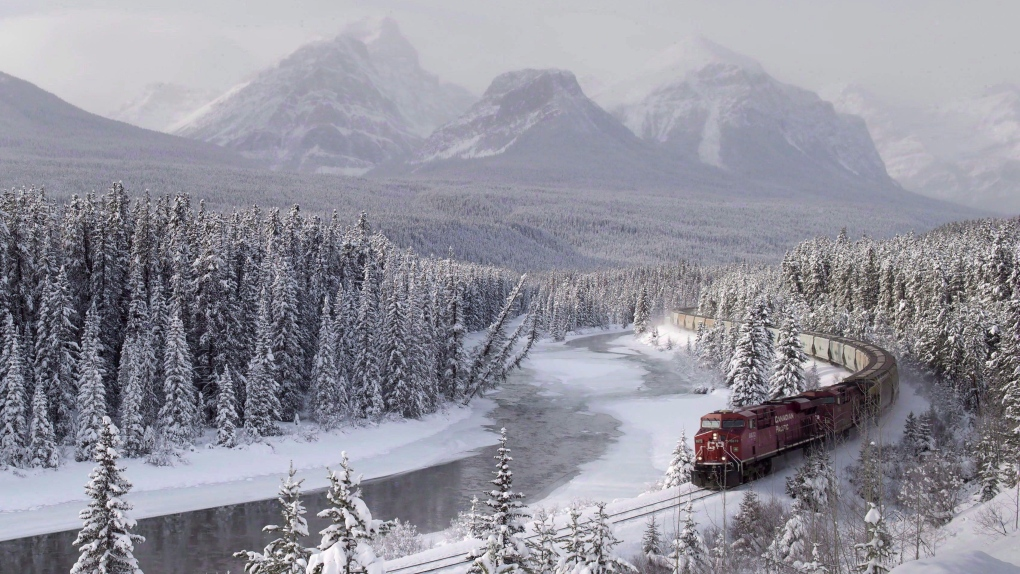CP Rail freight train