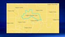 Calgary - Mountain View electoral district (ESRI)