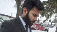 Jaskirat Singh Sidhu leaves his sentencing hearing Thursday, January 31, 2019 in Melfort, Sask. THE CANADIAN PRESS/Ryan Remiorz