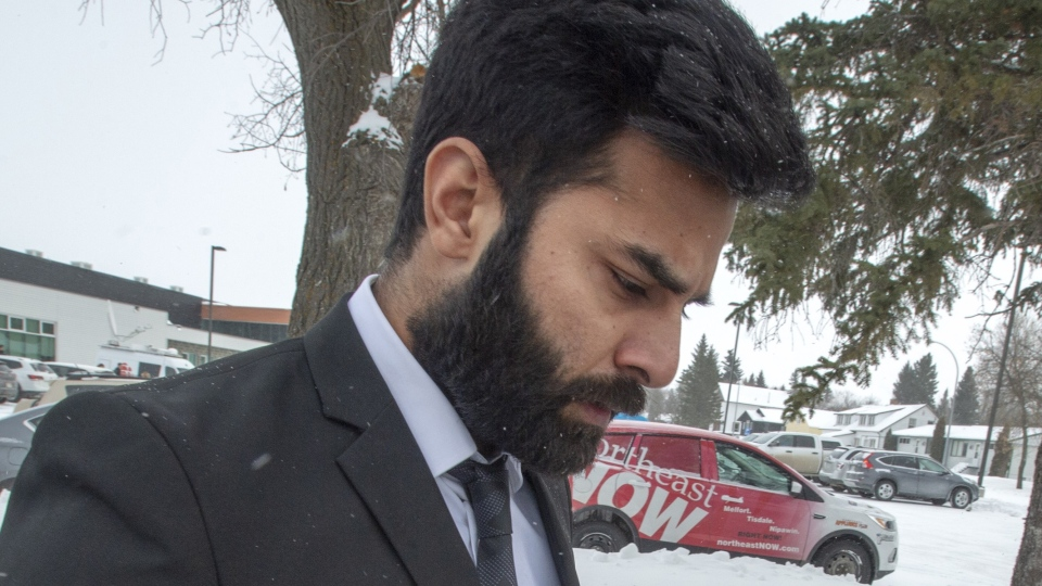 Jaskirat Singh Sidhu leaves his sentencing hearing Thursday, January 31, 2019 in Melfort, Sask. THE CANADIAN PRESS/Ryan Remiorz