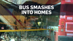 Caught on cam: Moment TTC bus smashes into homes