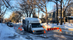 A handi-van from Vital Transit became stuck in a sink hole on Riverwood Avenue Thursday. CTV News/Alex Brown
