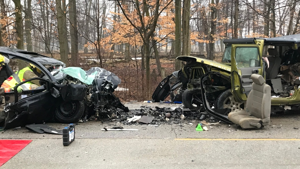 The aftermath of a serious crash