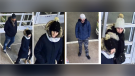 Guelph police are looking to identify these four people in connection to the incident. (Source: Guelph Police Service)