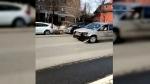 Vehicle strikes several cars at uOttawa