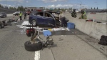 This Tesla X was in autopilot mode when it crashed into a barrier in Mountain View, CA on March 23, 2018