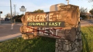 An excellent rendering of what Esquimalt East signage should not look like. (Photo illustration: CTV Vancouver Island)
