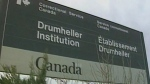 Sign outside the Drumheller Institution.