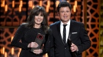 Marie Osmond, left, and Donny Osmond accept the pop culture award at the TV Land Awards at the Saban Theatre on Saturday, April 11, 2015, in Beverly Hills, Calif. (Photo by Chris Pizzello/Invision/AP)