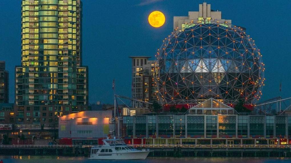 Super 'full worm' moon leaves behind stunning photos