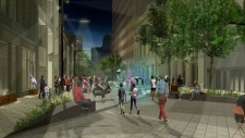 Rendering of the new layout for Sparks Street (Courtesy: City of Ottawa)