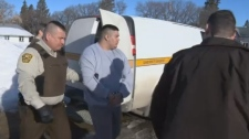 Therae Racette-Beaulieu arriving for his sentencing hearing in Minnedosa Thursday.