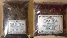 Two types of organic teas are being recalled in B.C. due to possible salmonella contamination. (CFIA)
