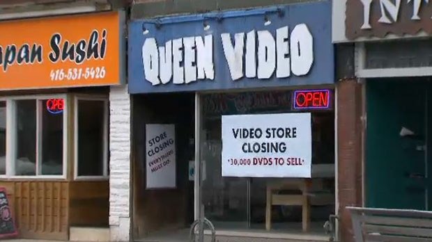 Queen Video, located near Bloor and Bathurst Street, will be closing its doors on April 28.
