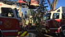 A fire broke out Thursday afternoon at a house on Garnet St.