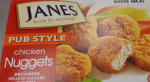 A box of Janes brand Pub Style Chicken Nuggets is seen in this supplied photo. (Source: CFIA)