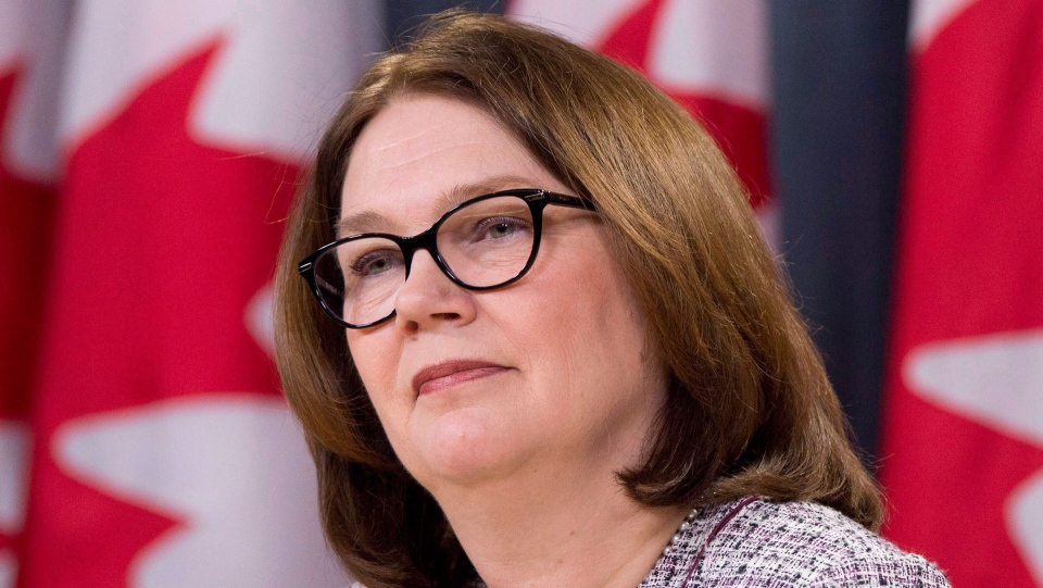 Jane Philpott listens to a questions during a news conference in Ottawa, Tuesday January 23, 2018. (THE CANADIAN PRESS / Adrian Wyld)