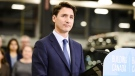 Prime Minister Justin Trudeau gives remarks at a transit maintenance facility in Mississauga, Ont., on Thursday, March 21, 2019. (THE CANADIAN PRESS / Christopher Katsarov)