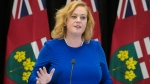Lisa MacLeod, Minister of Children, Community and Social Services, responds to a question on changes to Ontario's autism program at Queen's Park in Toronto on Thursday, March 21, 2019. (THE CANADIAN PRESS / Tijana Martin)