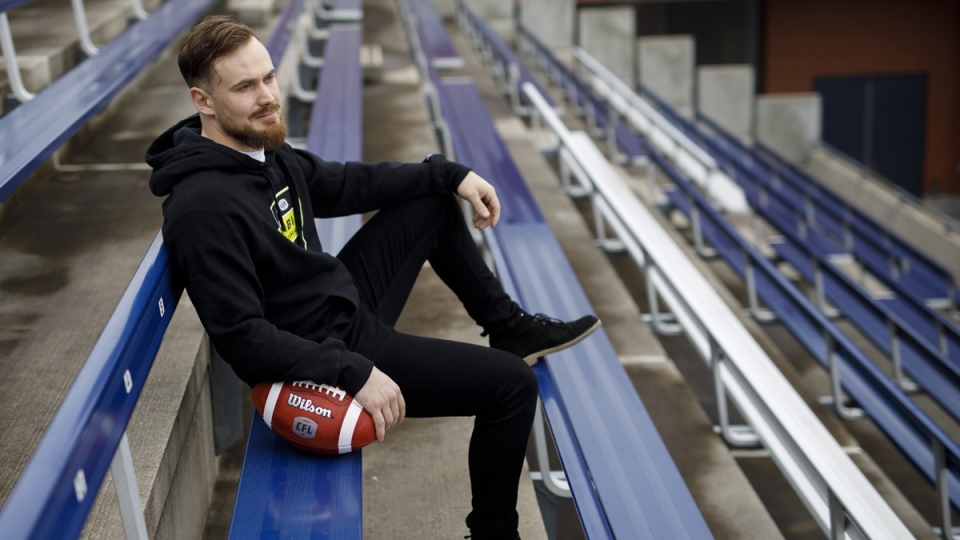 Danish football player Frederik Myrup Nielsen in Toronto, on March 21, 2019. (Cole Burston / THE CANADIAN PRESS)