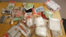 Police seized three kilograms of suspected cocaine, as well as thousands in cash. (Source: WRPS)