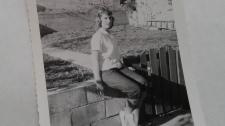 A photo of Sharon Pedersen in 1958