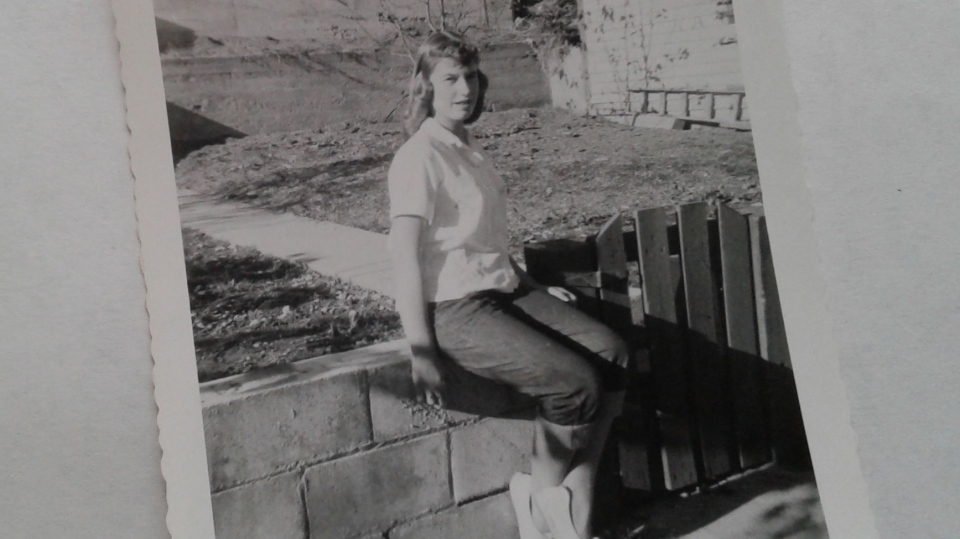 A photo of Sharon Pedersen in 1958 (Courtesy Sharon Pedersen)