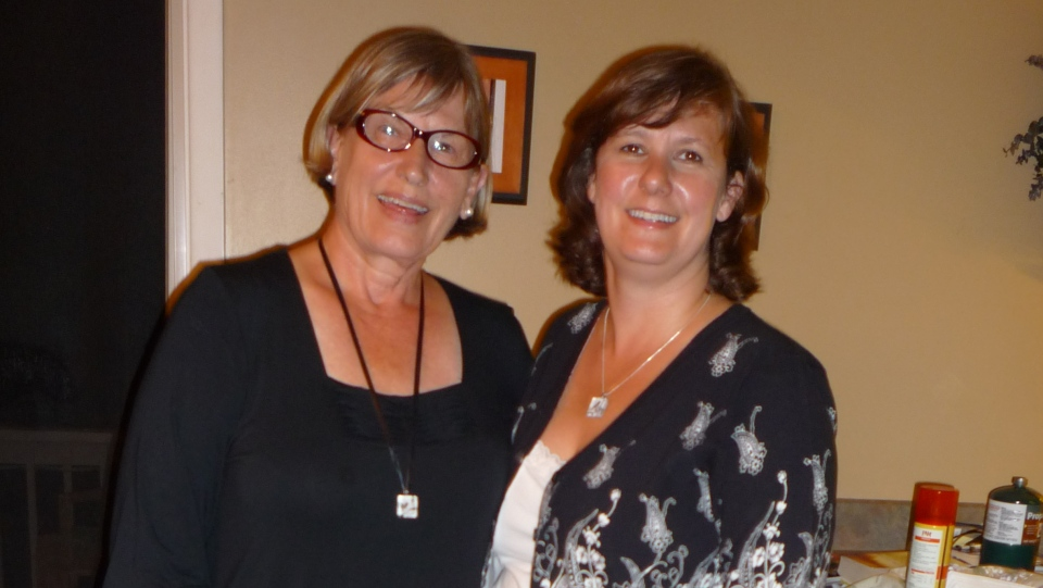 Sharon Pedersen and her daughter Michelle in 2009, a year after they re-united (Courtesy Sharon Pedersen)