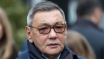 File photo dated Thursday, Nov. 1, 2018, Interim President of the International Boxing Association (AIBA) Gafur Rakhimov. (AP Photo/Pavel Golovkin, FILE)
