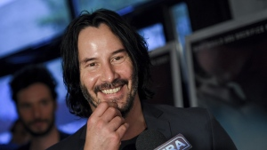 "Actor Keanu Reeves attends the premiere of ""Siberia"" at Metrograph, Wednesday, July 11, 2018, in New York. Actors Alex Winter and Reeves jumped on social media to announce plans for a third installment to the cult comedy franchise about two time-travelling California dudes. THE CANADIAN PRESS/AP-Photo by Evan Agostini/Invision/AP"