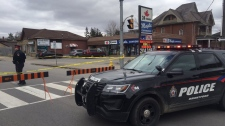 Brantford police are investigating after a person was shot on Friday afternoon. (Dan Lauckner / CTV Kitchener)
