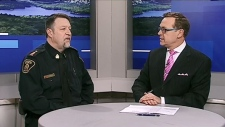 CTV Northern Ontario's Tony Ryma talks to a police inspector about threats made against schools are handled, after a recent incident.