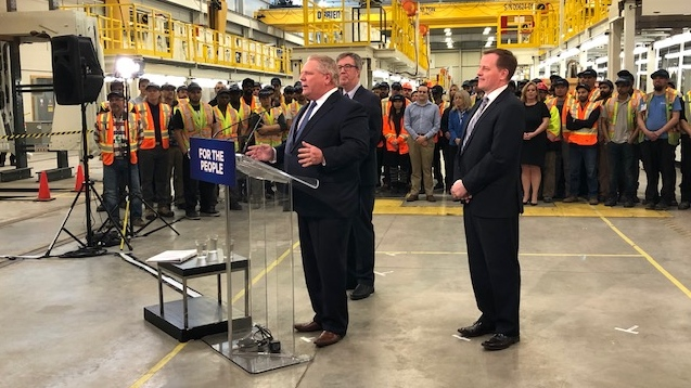 Premier Doug Ford announcesd $1.2 billion for Ottawa's Stage 2 of LRT.