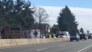 The BC Coroners Service is attending the scene along with an RCMP traffic analyst. (Nanaimo News Now)